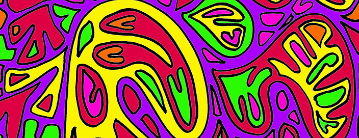 Abstract Art Mini Digital Coloring Book