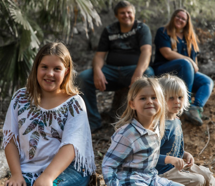 Family shoot at our property