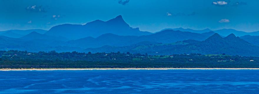 Mount Nardi take from Byron Bay