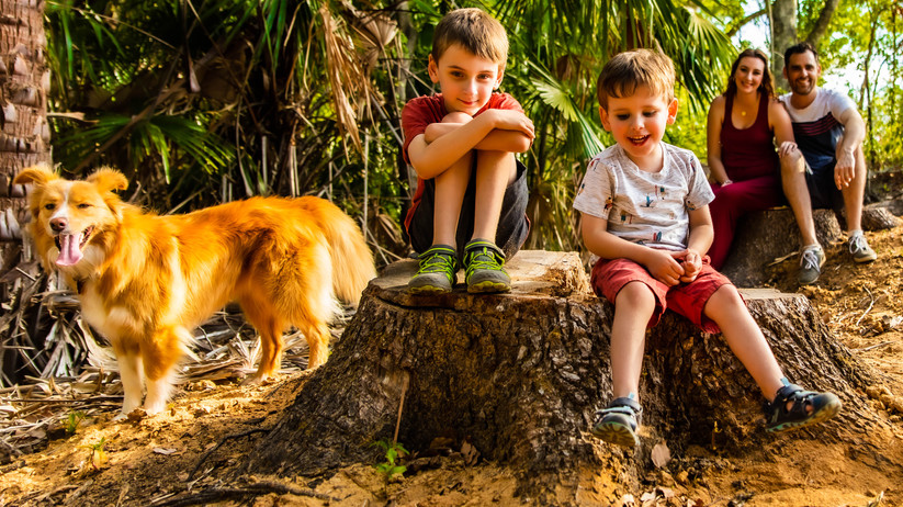 Family shoot at our property, and did I mention you can bring your pets.