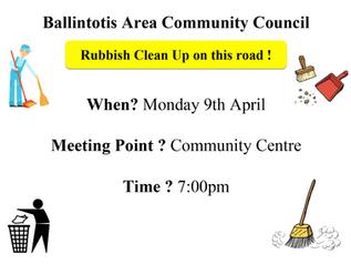 Ballintotis Area Community Council Rubbish Cleanup