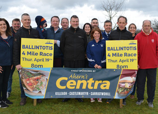 All Set For The Ballintotis '4' Mile Road Race On April 19th - Sponsors and Organisers Gathe