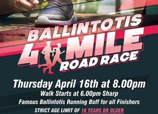 Ballintotis 4 Mile Road Race 2020!