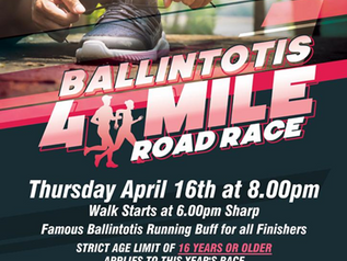 Ballintotis 4 Mile Road Race 2020!