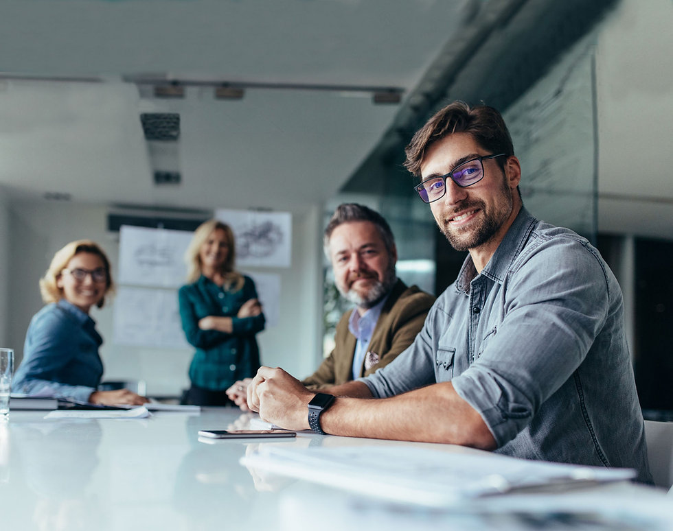 happy-group-businesspeople-during-presen