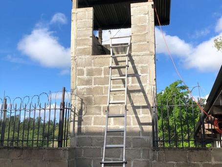 Climb ladder  ➡️  fall off ladder  ➡️  Get Covid-19‼️