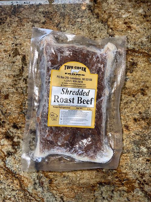Shredded Black Angus Roast Beef - 2lbs packages