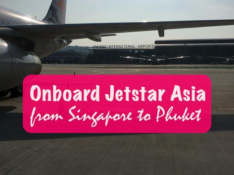 Onboard Jetstar Airways from Singapore to Phuket