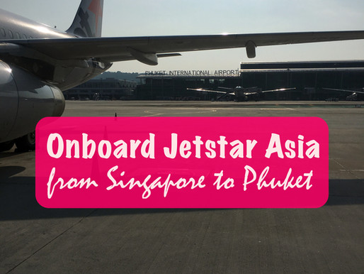 Onboard Jetstar Airways from Singapore to Phuket