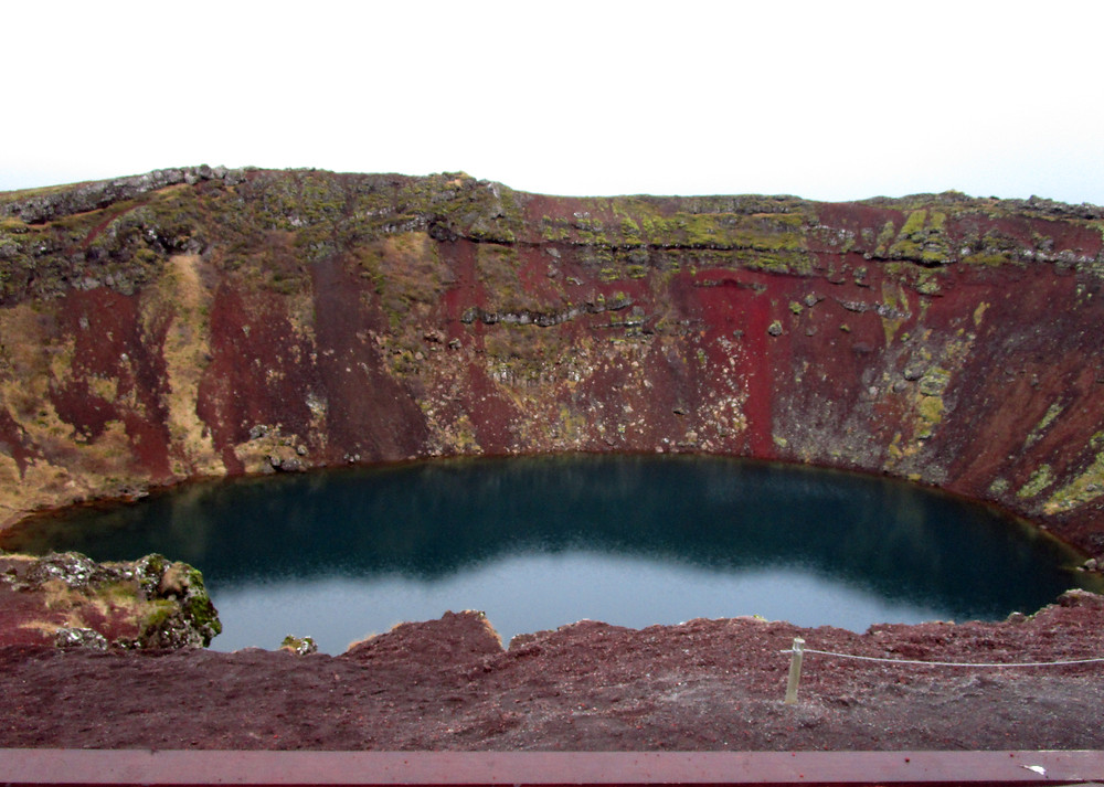 Kerio, a volcanic crater in Iceland's Golden Circle Route