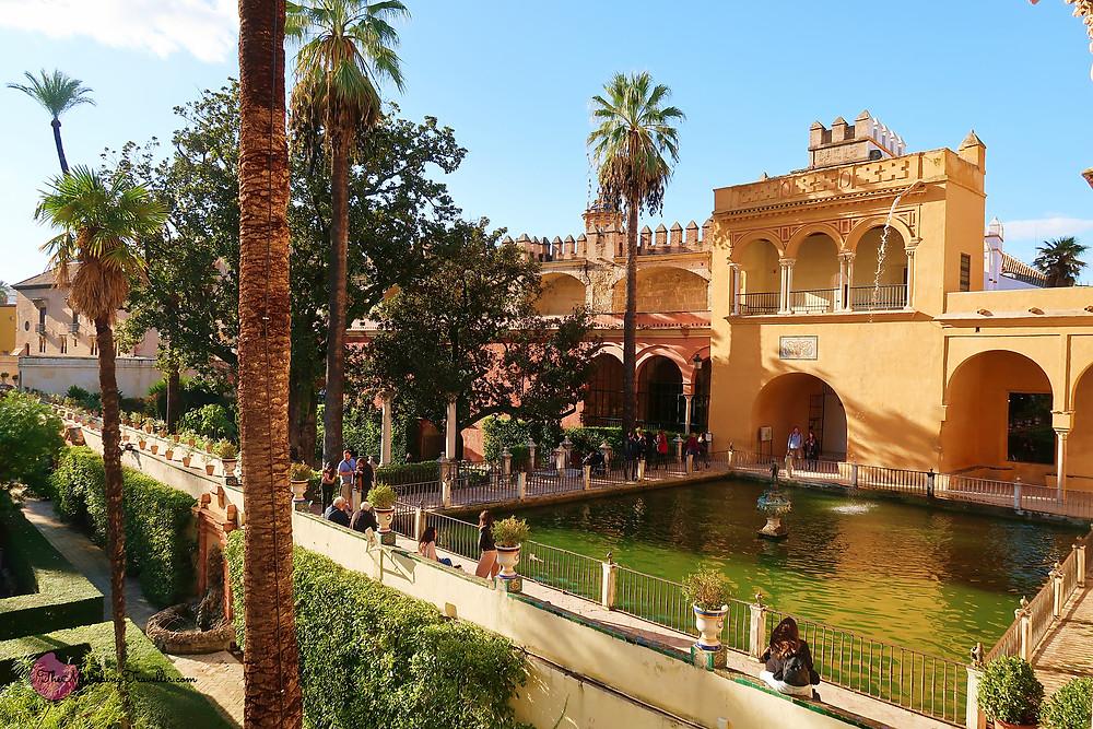 Mercury's Pool, Real Alcazar of Seville, Spain
