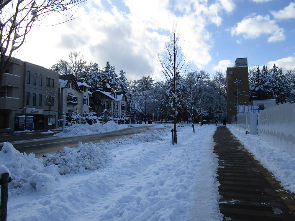 The walk to Maruyama Park