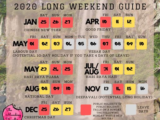 2020 Long Weekend Travel Guide