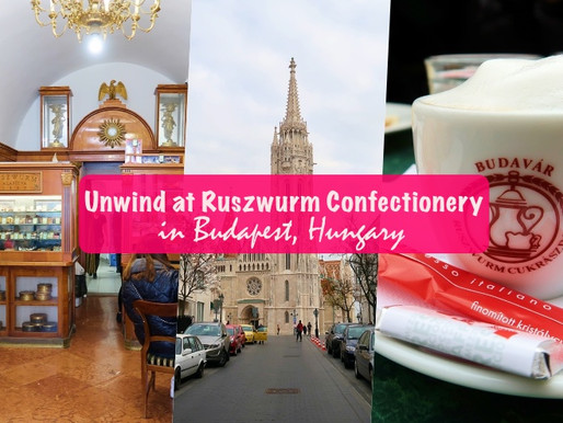 Unwind at Ruszwurm Confectionery in Budapest, Hungary