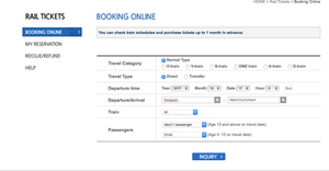 Booking Korail Tickets