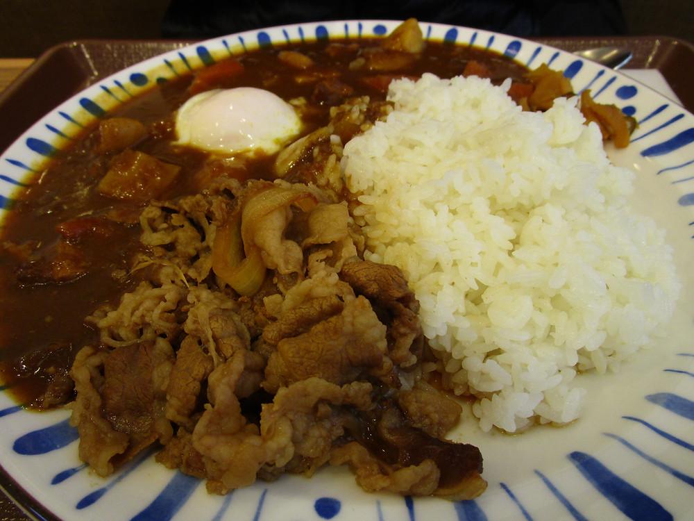 Curry gyu-don @ Sukiya