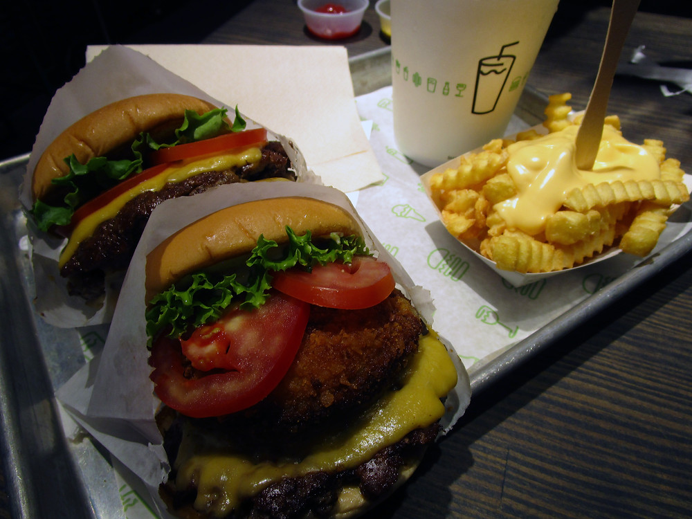 Shake Shack Burgers and Cheese Fries