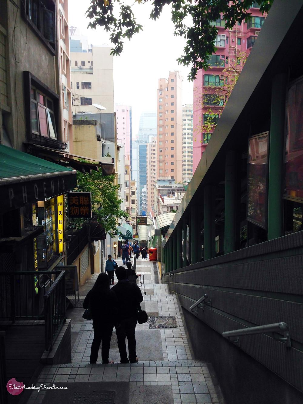 Central Mid Levels Escalators, Hong Kong
