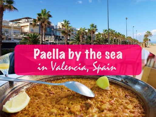 Paella by the sea in Valencia, Spain