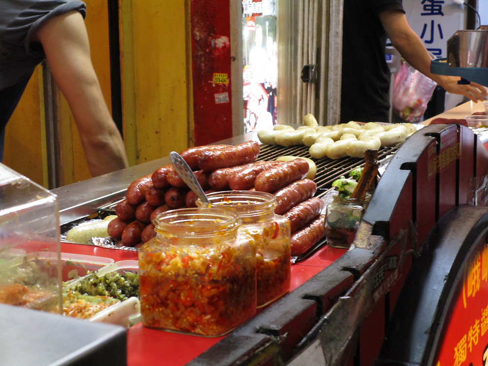 Taiwanese Sausages, XiMenDing, Taipei, Taiwan
