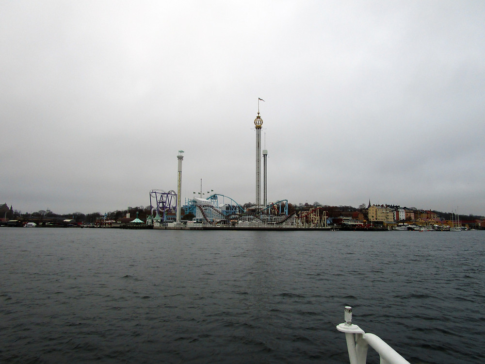 Picturesque Grona Lund from the Ferry