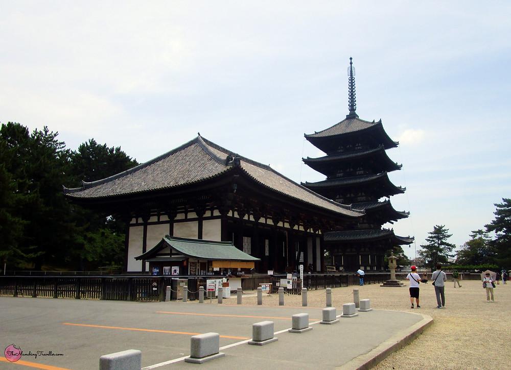 Kofukuji Temple and Kofukuji Pagoda, Nara, Japan