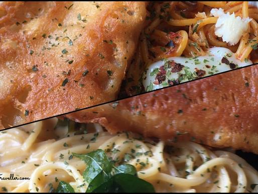 Chilli Crab Pasta, Salted Egg Yolk Fish and Chips, and more at Fish & Chicks, Singapore