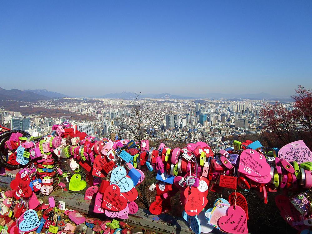Lovelocks at Namsan