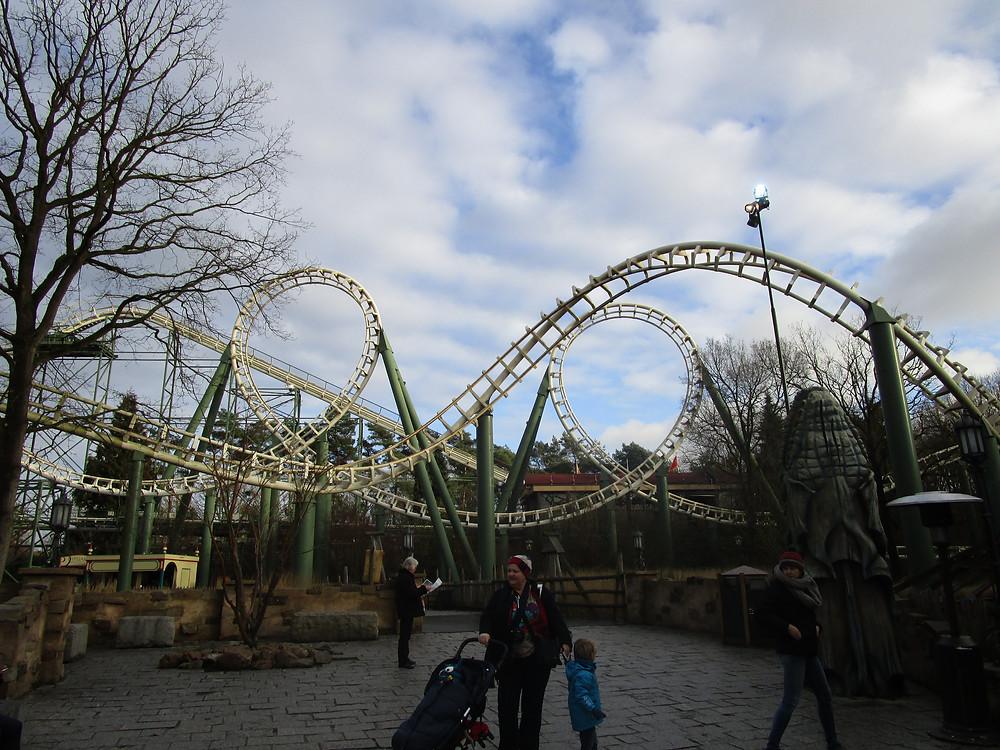 Efteling Theme Park Roller Coaster