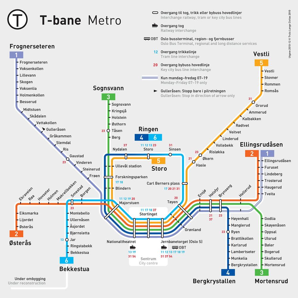 T-band Metro, Oslo, Norway
