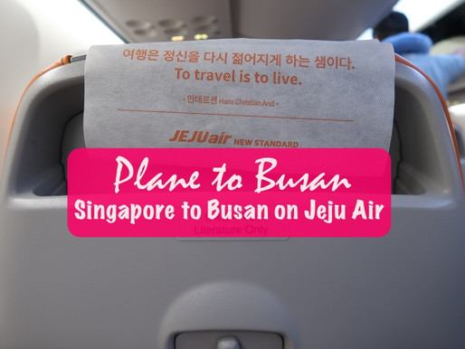 Plane to Busan: Singapore to Busan on Jeju Air