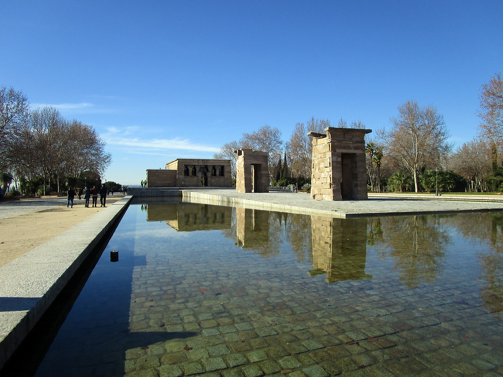 Side view of the Temple of Debod