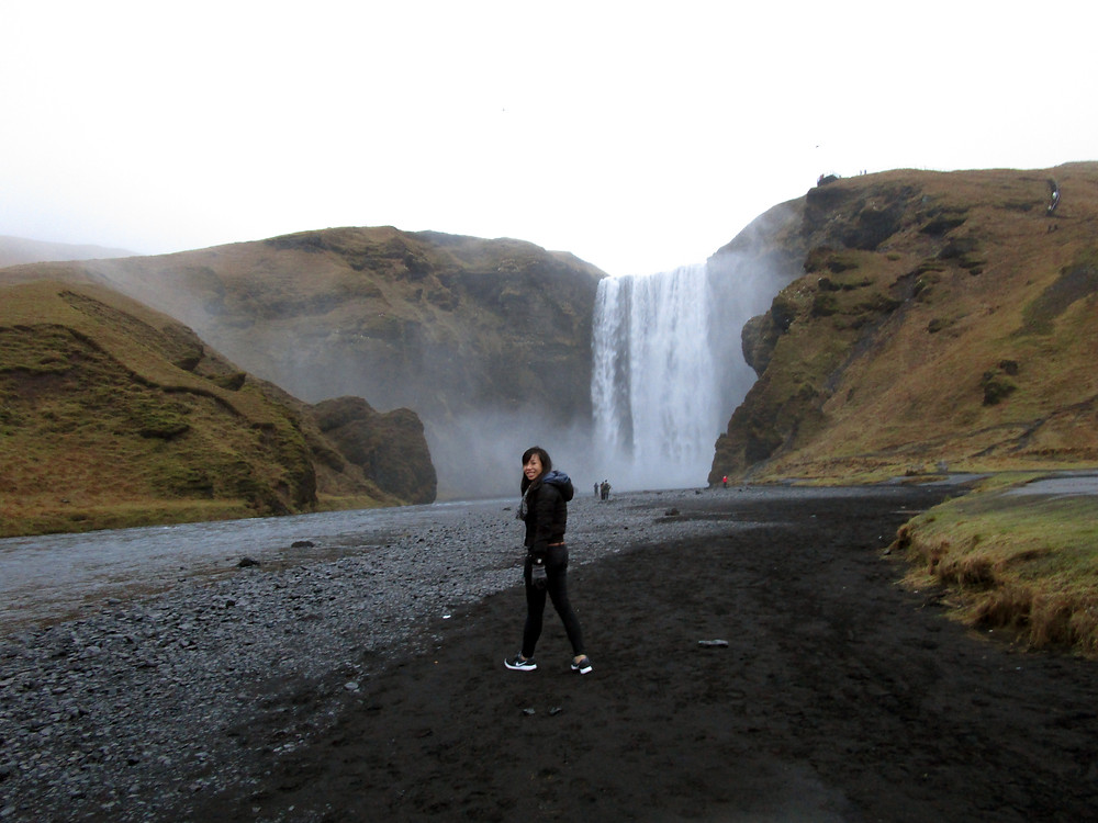 The Munching Traveller at Iceland Skogafoss Waterfall