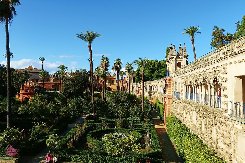 The Gardens of Alcazar, Real Alcazar of Seville, Spain