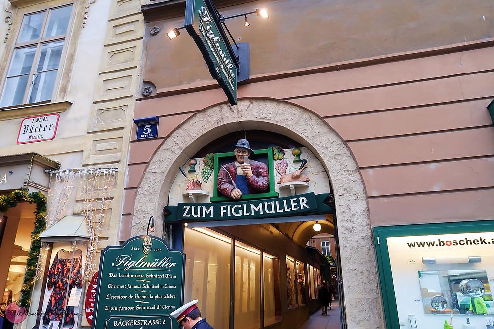 Where to have Schnitzel in Vienna? Figlmuller
