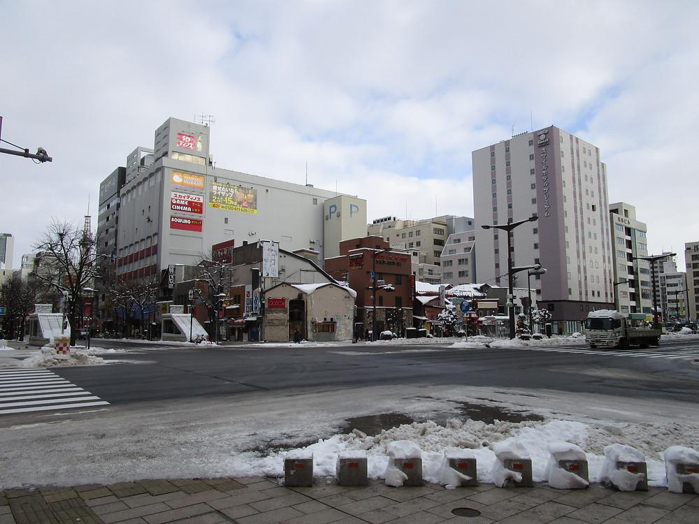 View outside APA Hotel Sapporo Susukino Ekimae