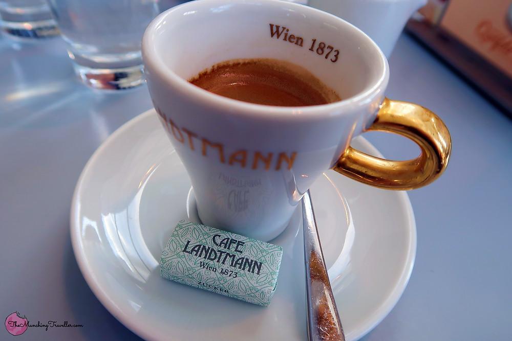 Coffee at Cafe Landtmann, Vienna, Austria