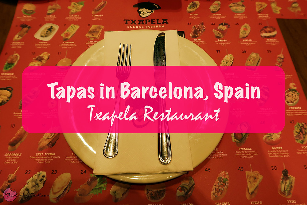 Where to have Tapas in Barcelona, Spain? Txapela Restaurant