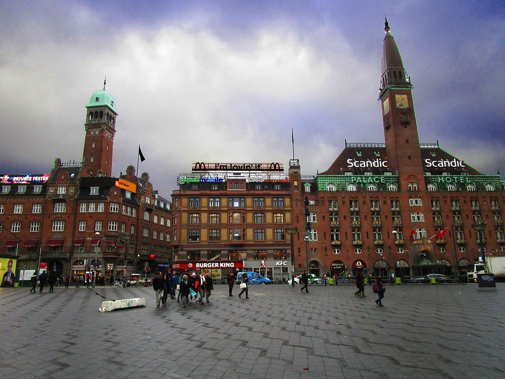 View of Stroget from Københavns Rådhus