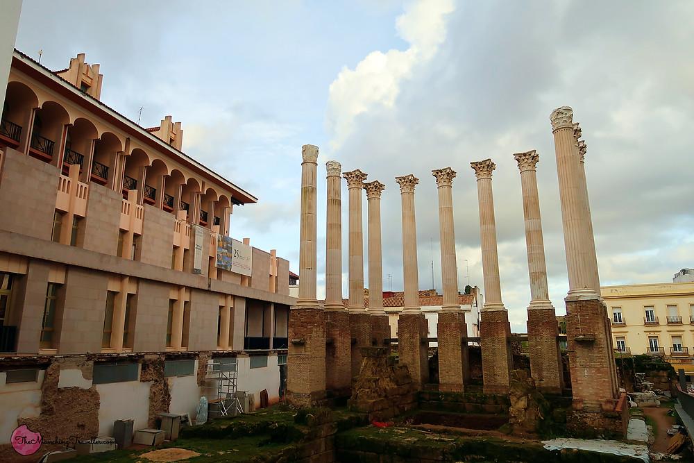 Templo Romano, Roman Temple Ruins, Cordoba, Spain