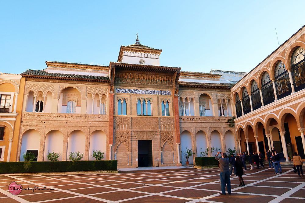 The Lion's Courtyard, The Real Alcazar of Seville, Spain