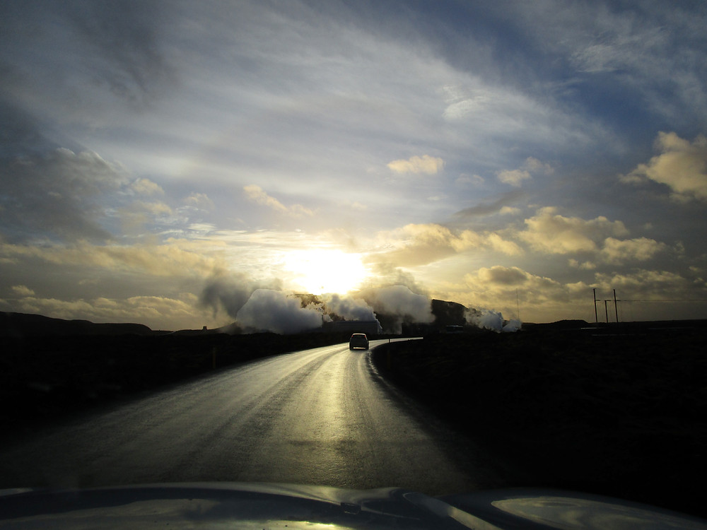 Drive to the Blue Lagoon, Iceland