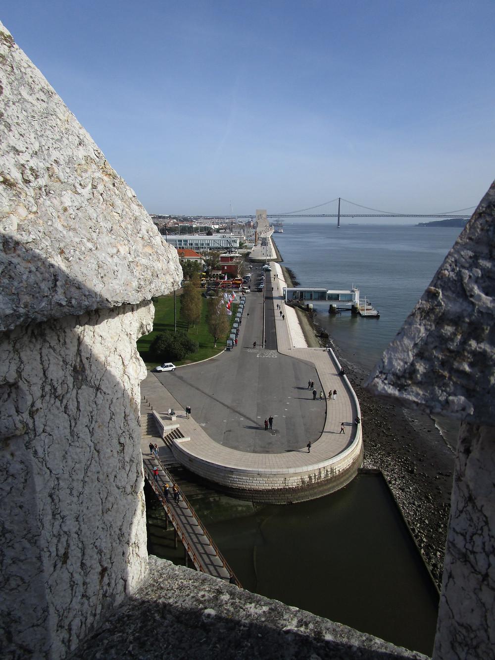 Belem Tower View of 25 de Abril Bridge