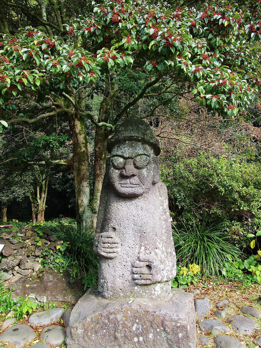 Jeju Statue in Cheongjiyeon Waterfall Park