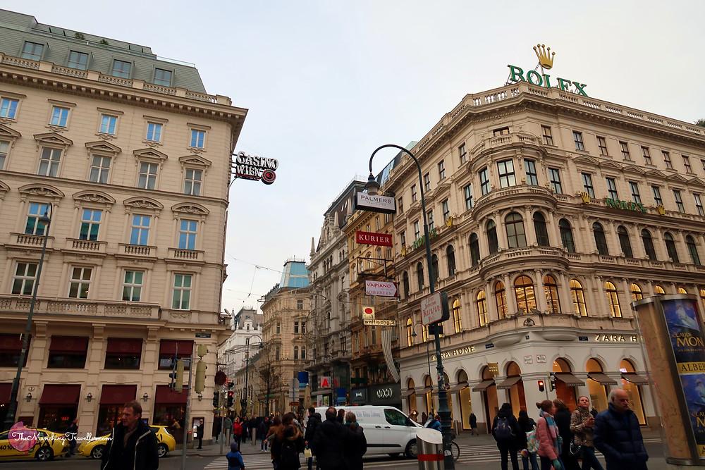 Kartner Strasse Shopping Street, Vienna, Austria