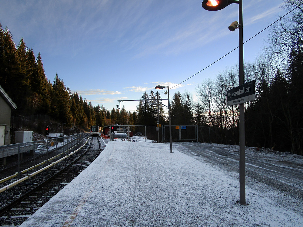 Voksenkollen, Oslo, Norway Metro Station
