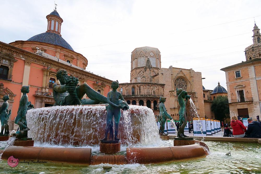 Plaza de La Virgen, Valencia Cathedral, Spain