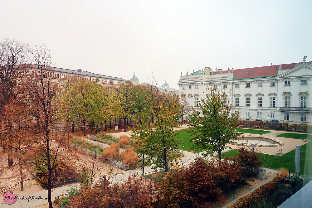 View outside 25hours hotel at MuseumQuartier, Vienna, Austria
