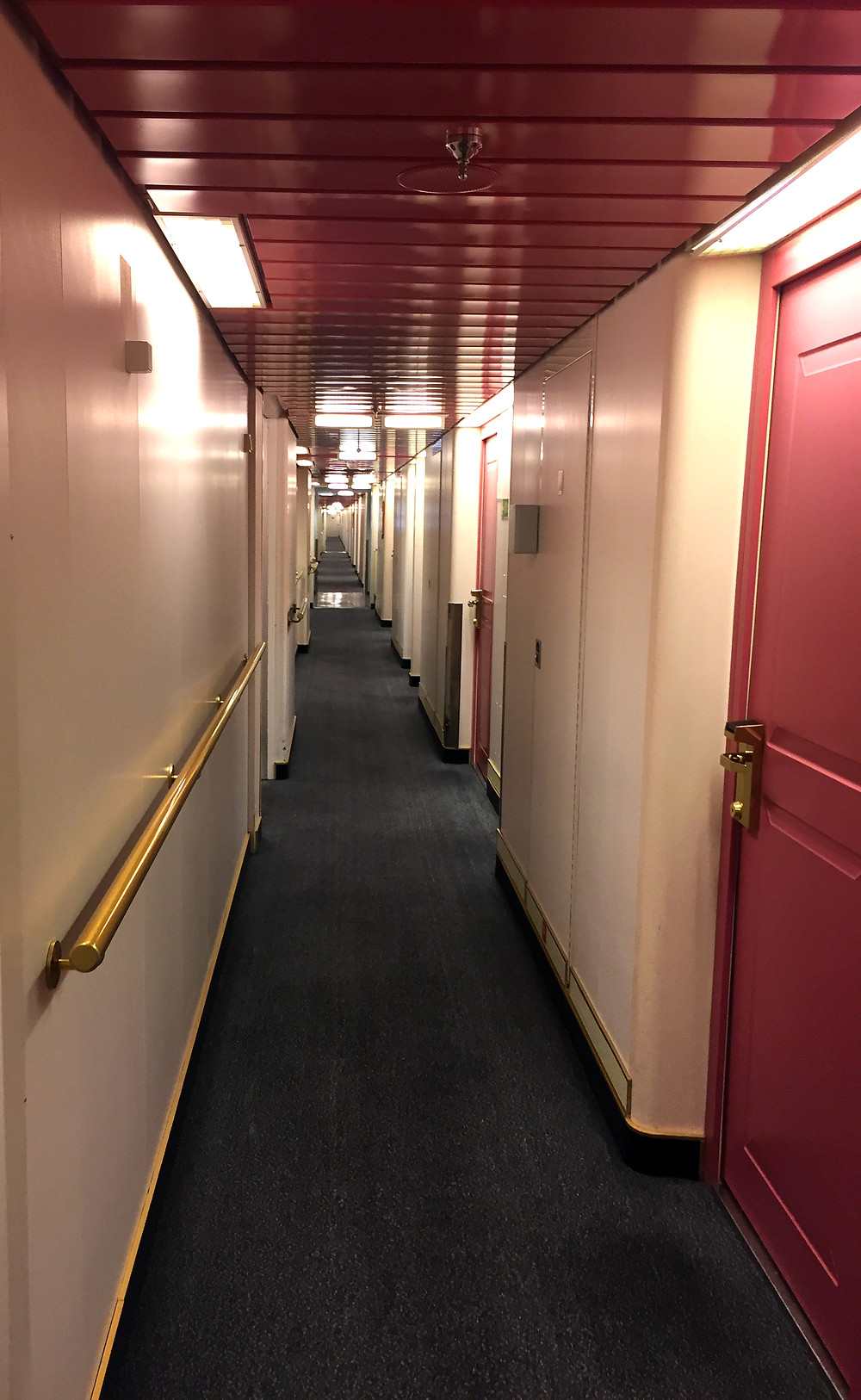 Walkway to the DFDS cabins