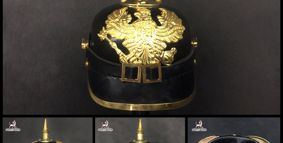 Pickelhaube Helmet | German Hat | Leather Helmet